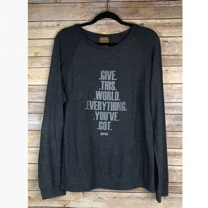good hYOUman Give this world everything Sweatshirt